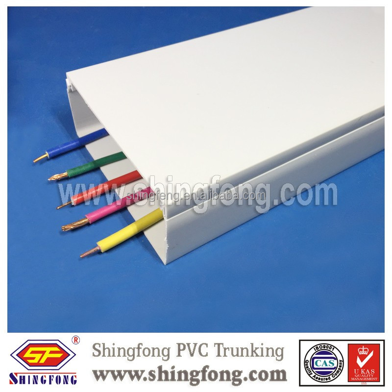 Anti-UV All Size Available Length:2.9m PVC Trunking Pipes Sun-proof UPVC Trunking