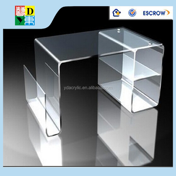 Acrylic Computer Table Clear Office Furniture With High Quality Made In China Low Price