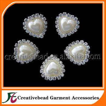 Crystal Pearl Embellishment For Wedding InvitationRhinestone Embellishments WholesaleWedding Brooch Button Invitations
