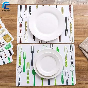 Simple Waterproof Placemats Kitchen Table Place Mats Kids Educational Learning Dinner Party Supplies Wipeable