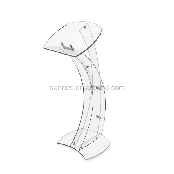 Clear Acrylic Church Pulpit Elegent Acrylic Church Pulpit with Acrylic Curved Spine
