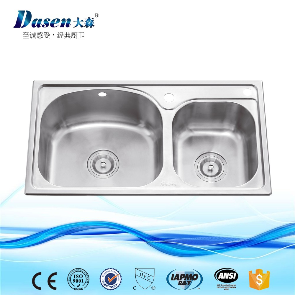Hot Sell Malaysia Oval Shaped Cheap Copper Stainless Steel Kitchen Sinks