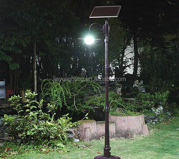 5m Height Round Shape Solar Garden Light Pole Competitive Price ...