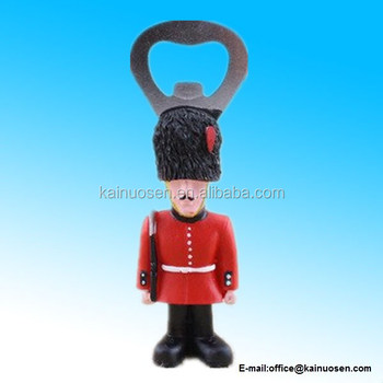 Armed guardsmen fridge magnet bottle opener