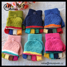 f67c6da6003 Morewin gloves amazon hot sale custom winter colorful fingers flip top  gloves for Kids baby mittens
