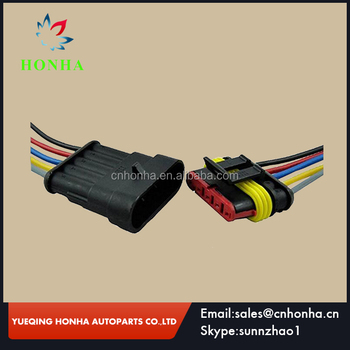 male female 5 pin wire connector weatherpack 5 way auto connector wire  harness waterproof electrical connector