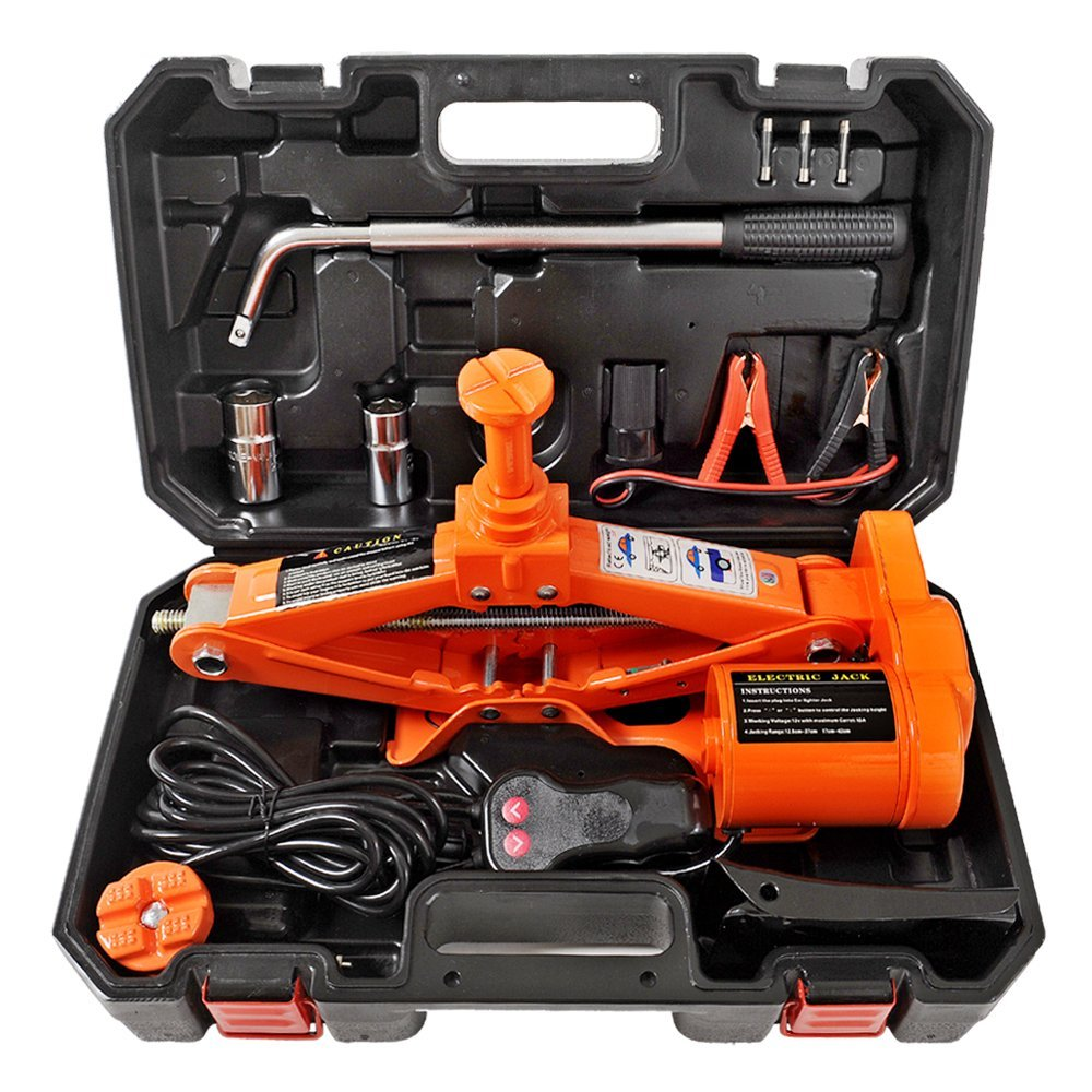 Maximum Lifting Height :42Cm 3 Ton 12V Electric Hydraulic Jack Scissor Jack for Car Scissor Jack Car Repair Tool