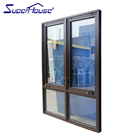 double lock crank swing window aluminium frame casement windows and door