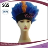 cheap wholesale dark blue headband carnival wigs with orange high light