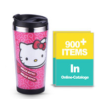 Paper Insert Double Wall Advertise Cartoon Thermal Coffee Mug Hello Kitty 16oz Custom DIY Thermal Logo Coffee Mug