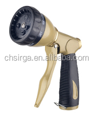 Garden Water Deluxe Zinc 7-Patterns Front Trigger Metal Hose Spray nozzle