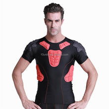 Wholesales Breathable Honeycomb padded sport protective blank compression shirts for basketball rugby