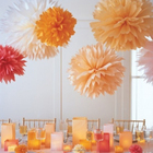 Meilun Art Crafts Artificial paper pom poms wedding party supplies