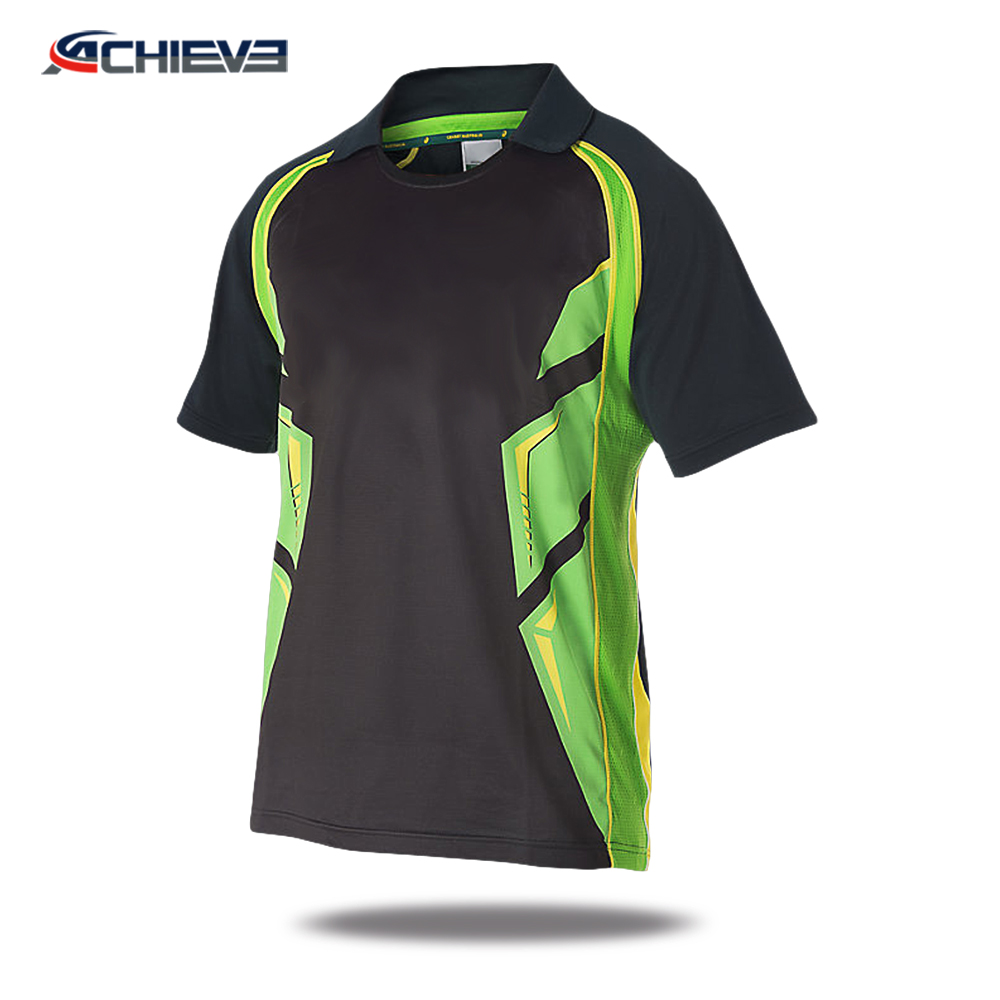 2018 Custom pakistan sports t shirt designs cricket jersey for team