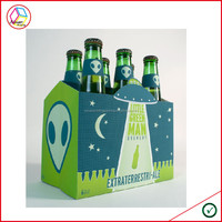 High Quality Cardboard 6 Pack Bottle Beer Carriers