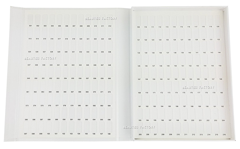 Beauties Factory Display Card Chart Book Nail Art Tool 120 / 216 / 308 Color (216 Color (Medium))
