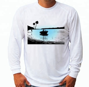 Custom Polyester Spandex Blend Fish T Shirt Fish Graphic Long Sleeve T Shirt Screen Printing With UV T Shirt