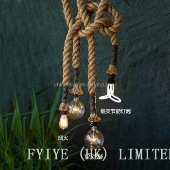 Industrial design hemp rope lights handmade lamps buy industrial industrial design hemp rope lights handmade lamps aloadofball Gallery