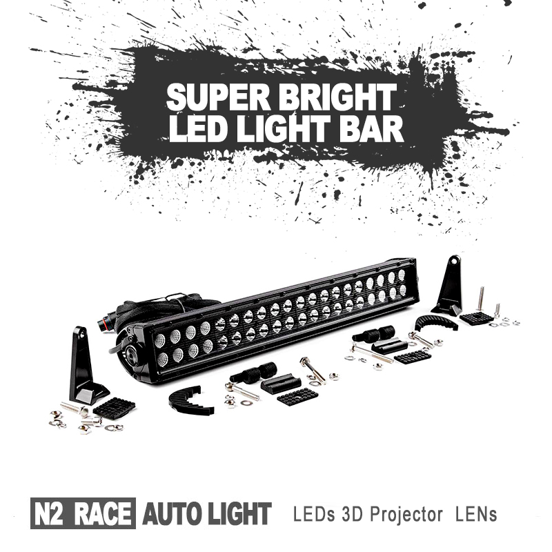 SEMA Member Innovation Offroad accessories 20 inch led light bar ,with 5W led chip ,flood beam driving light