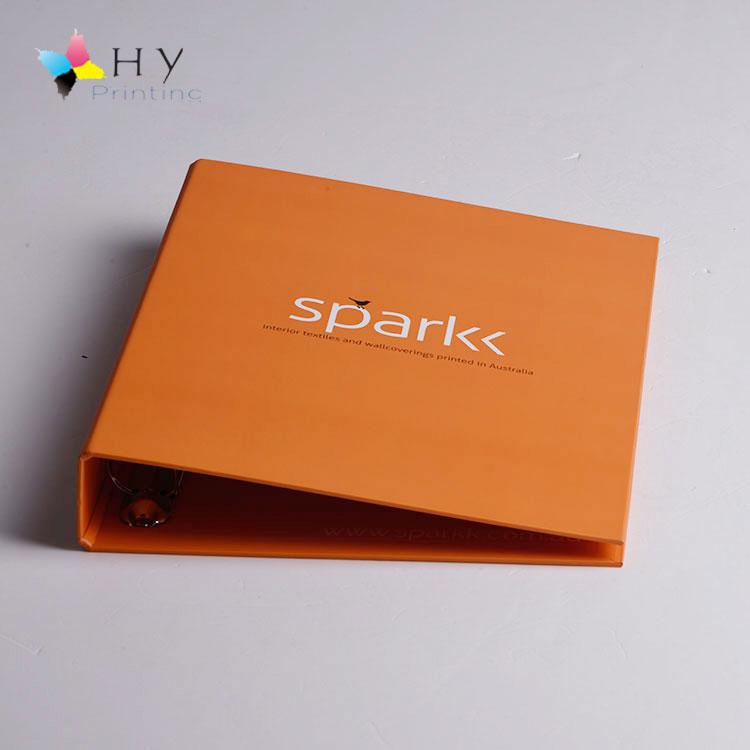 Customized Pantone colors printing paper ring binder folder with 4 rings