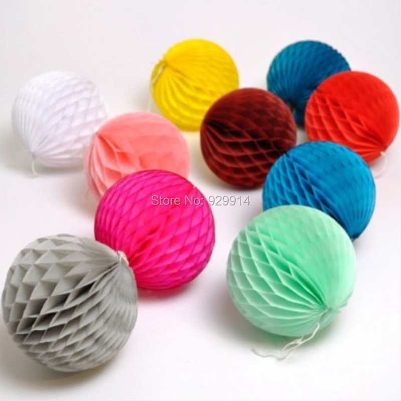 """Paper Decoration Balls: Free Shipping Red Honeycomb Balls Tissue12"""" Paper"""