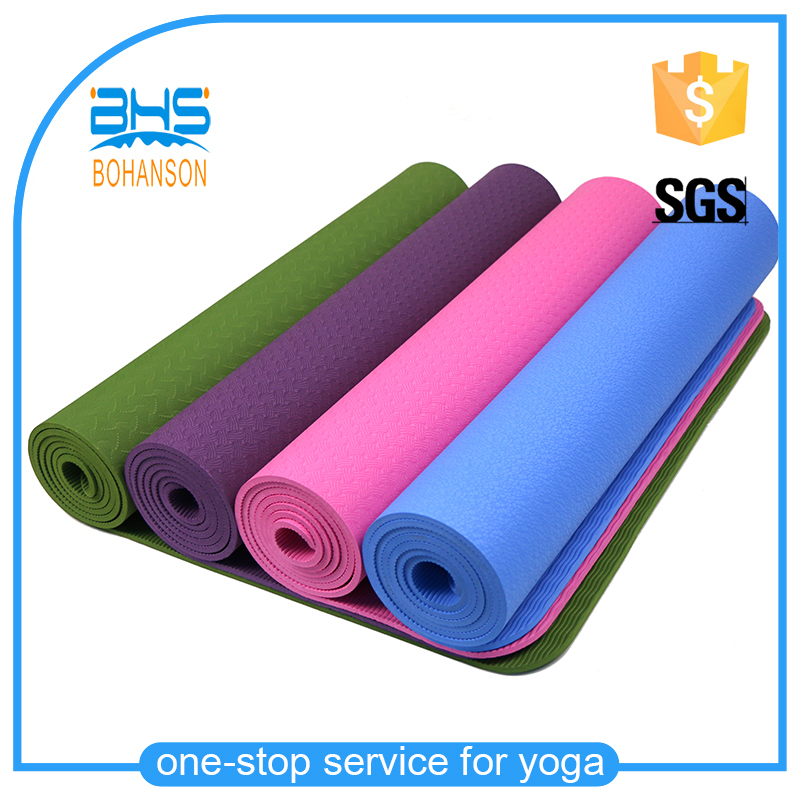 Customized printed tpe 6mm thick non slip yoga mat made in China