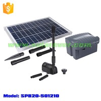 Wiring work and electricity cost free solar powered pond fountain pump kit (SPB20-501210D)