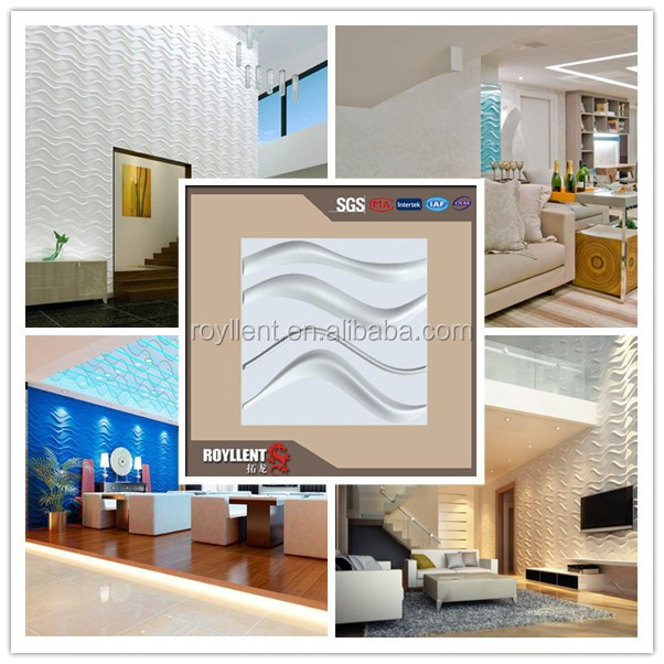 Royllent 3D WALL PANEL interior 3d paper wall decoration