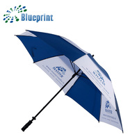 Windproof Custom Logo Golf Double Layer Umbrella