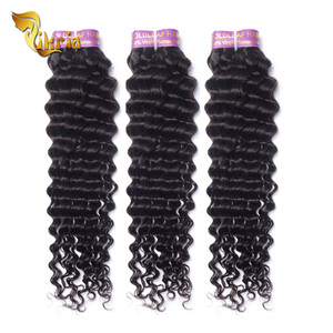 Good price human hair manufacturer peruvian human hair extension with deep wave type