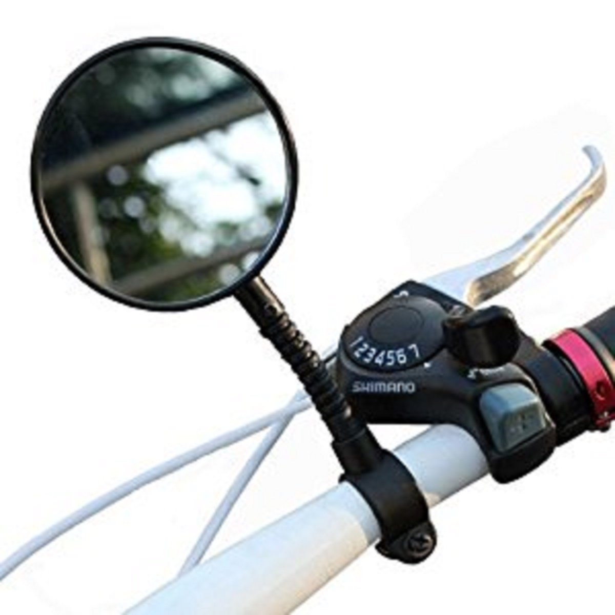 Mountain MTB Bike Bicycle Cycling Handlebar Rearview Rear View Mirror Flexible