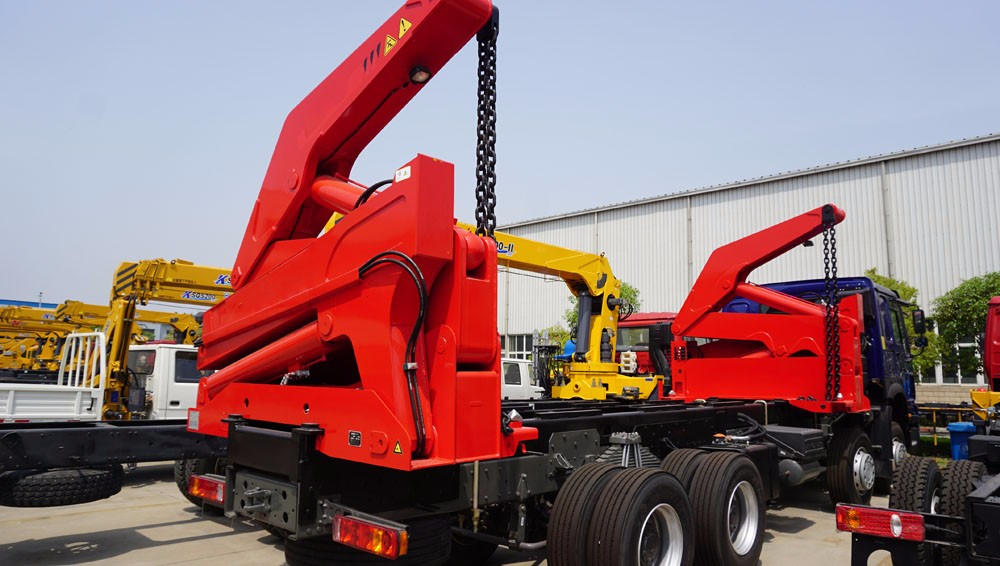 40ft container side loader , 3 axle side lift container sidelifter , container self loading container truck trailer