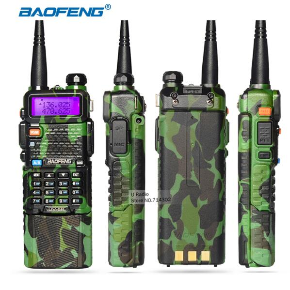 2017 Original Baofeng UV 5R uv-5r Portable Dual band VHF UHF two way radio 136-174/400-520 ham cb radio Walkie Talkie 3800mAh