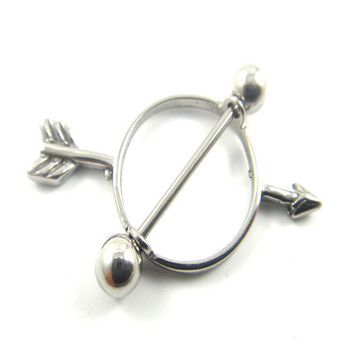 Stainless steel heart nipple shield stretching jewelry for Pierced nipple stretching jewelry