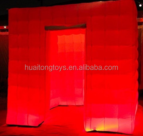 Fatory price photo booth inflatable /led inflatable photo booth wall