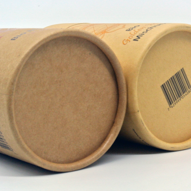 Customized tube packaging boxes paper recycled paper tube packaging foil lined paper tube
