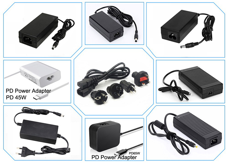 OUSM Power Adapter Manufacturer Supply 5V 9V 12V 15V 19V 24V 48V Desktop AC Power Adapter for Tablet Laptop Notebook