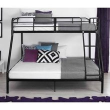 Modern fashionable round tube iron twin bunk bed