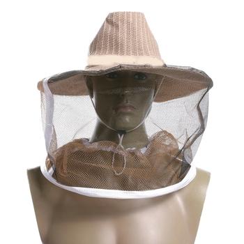 1Professional Beekeeping Hat Beekeeper Cowboy Hat Anti Mosquito Bee Veil Net Hat