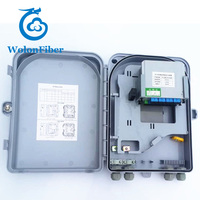 Outdoor FTTH 16 core fiber optic distribution box