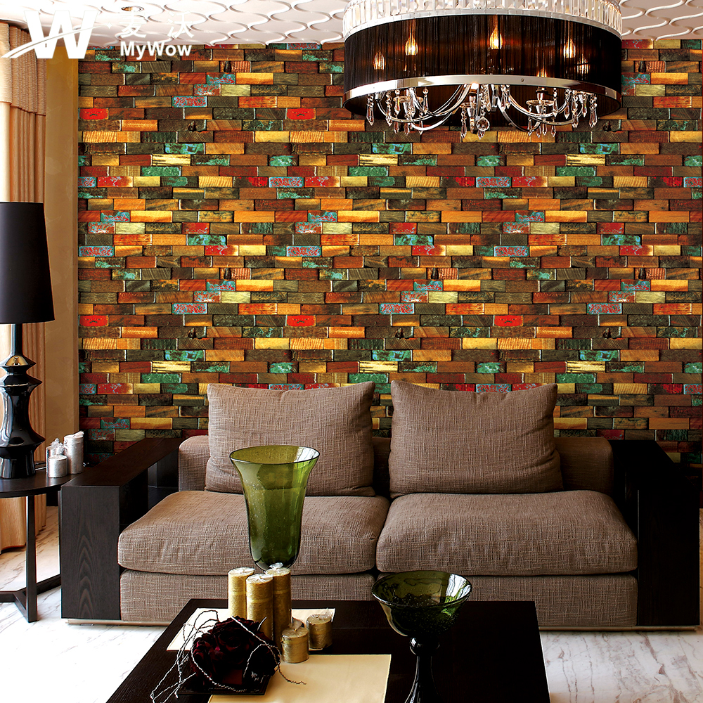 China supplier latest designs 3d brick wallpaper for ktv