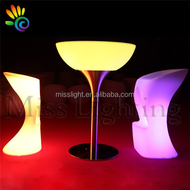 Hot sales event <strong>bar</strong> illuminated led furniture dubai light up led cocktail table