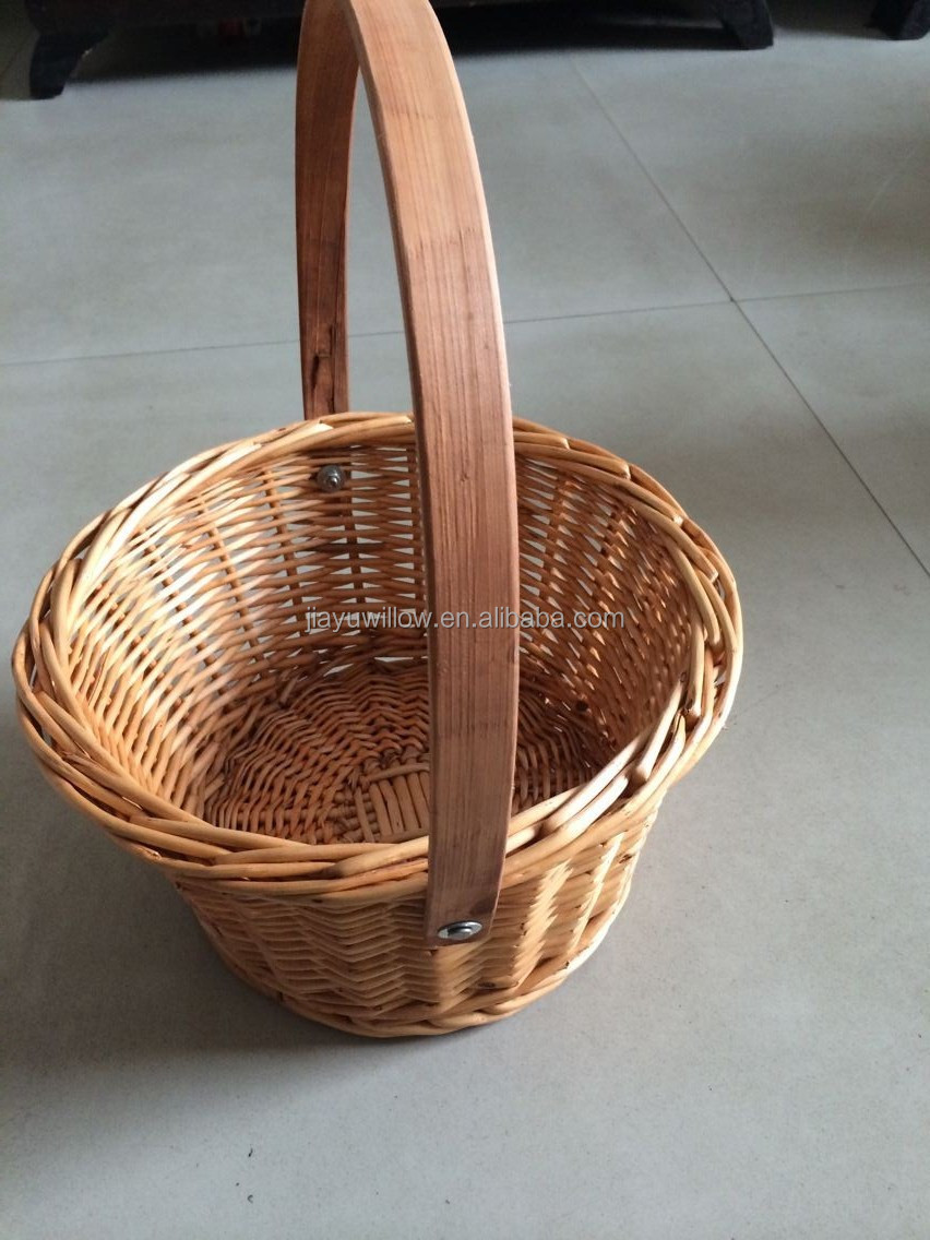 handmade wicker swing handle gift basket with wood handle buy swing handle gift basket small. Black Bedroom Furniture Sets. Home Design Ideas