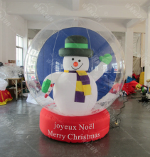 2017 Giant decorating christmas big balls,Christmas Inflatable snow ball, Christmas inflatable global