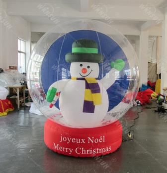 2017 giant decorating christmas big ballschristmas inflatable snow ball christmas inflatable global