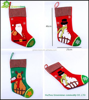 Merry Christmas sock Santa Claus sock in stock Handmade christmas stocking sock Xmas decoration