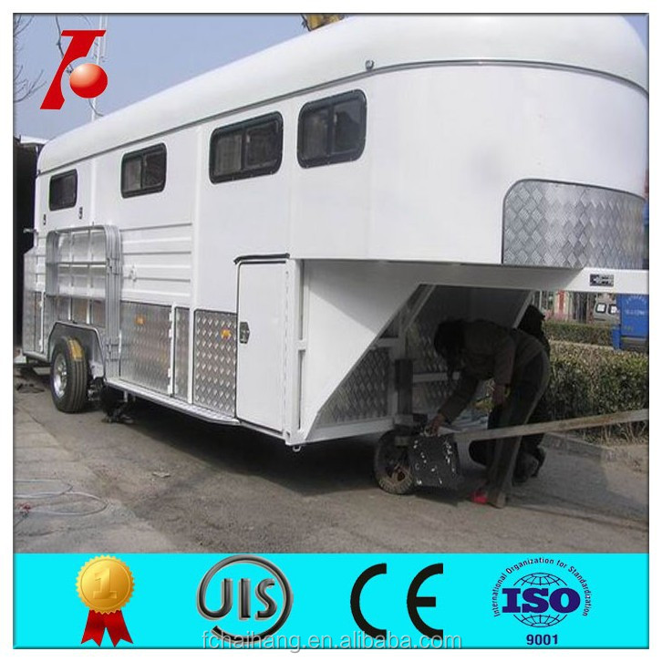Gooseneck horse trailer for 3 horses, living quarters horse trailers ,deluxe camper float
