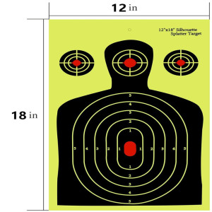 12*18 inch Blue Silhouette Reactive Splatter Self Adhesive Goal Shooting Targets Outdoor Shooting Practise