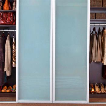 Moderate Design Aluminum Door Frame Frosted Glass Closet Sliding Doors