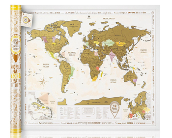 New Scratch Off World Map Gold Edition Original From Manufacturer